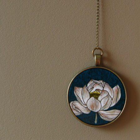 """bijou de mur """"Lotus"""" pièce unique"""