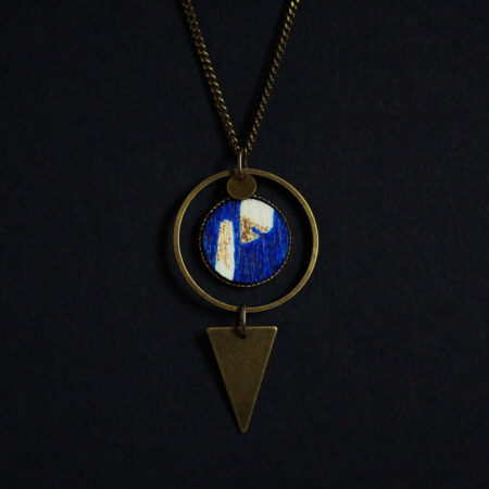 Collier «Ariane» bleu roi