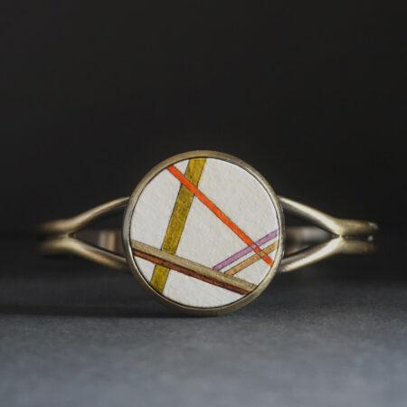 """Bracelet """"géométries"""" pièce unique"""