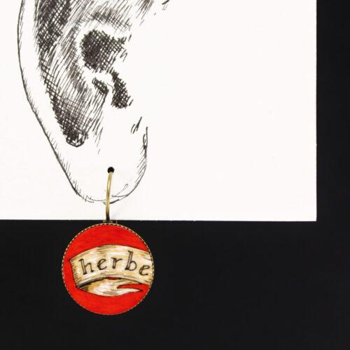 """Boucles d'oreille """"herbe folle"""" pièce unique Anna Elleouet créatrice Rennes France"""