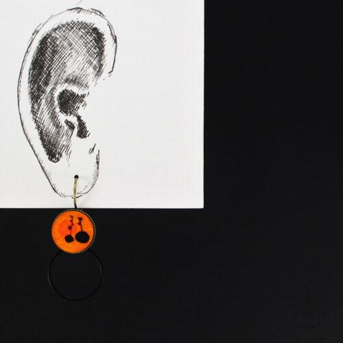 """Boucle d'oreille """"pousses"""" pièce unique anna elleouet fait main créatrice Rennes France ouet créatrice Rennes"""