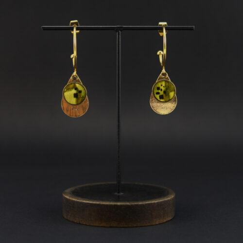 """boucles d'oreille """"vu d'ici"""" pièce unique Anna Elleouet bijoux créateurs fait main Rennes"""